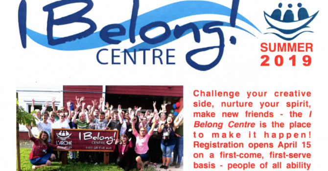 L'Arche Comox Valley I Belong Centre News Activity Guide image