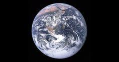 Earth seen from apollo 17 fb 1