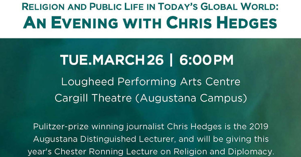 Ronning Centre Presents: Religion and Public Life in Today's Global World