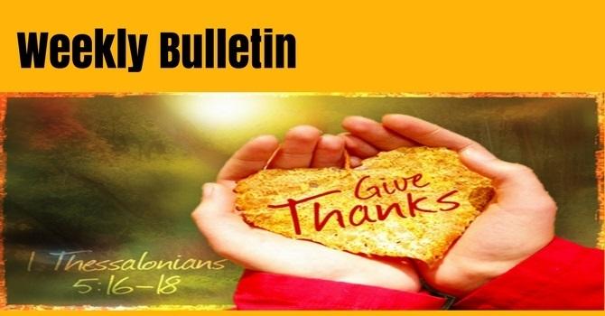 Bulletin | October 7, 2018 image