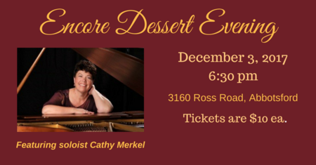 Encore Dessert Evening - Song for a Winter's Night