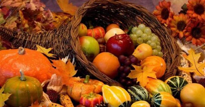 Thanksgiving Food Drive + Harvest Thanksgiving worship Sun. Oct. 9