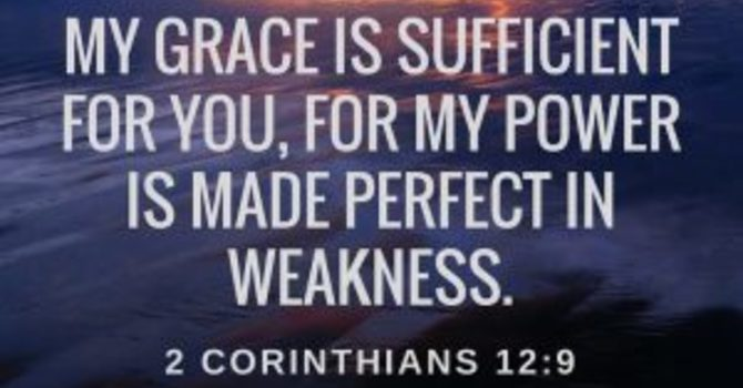 Strength made perfect in weakness