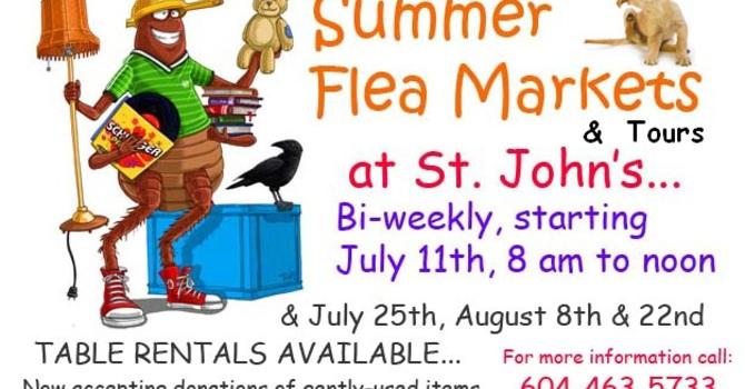 Summer Flea Markets and Church Tours