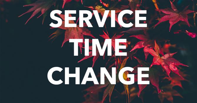 Service Time Change image