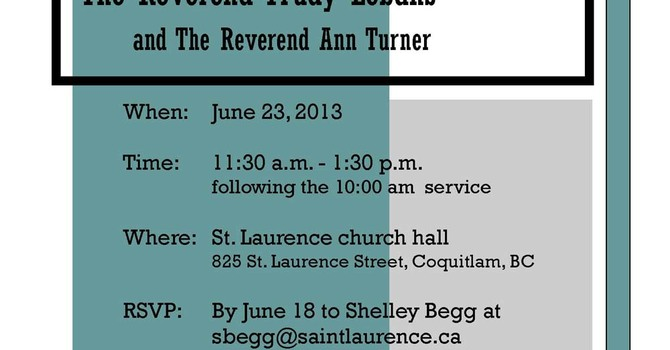 Farewell Lunch for the Reverend Trudy Lebans and the Reverend Ann Turner image