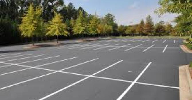 Parking Lot - White Line Painting image