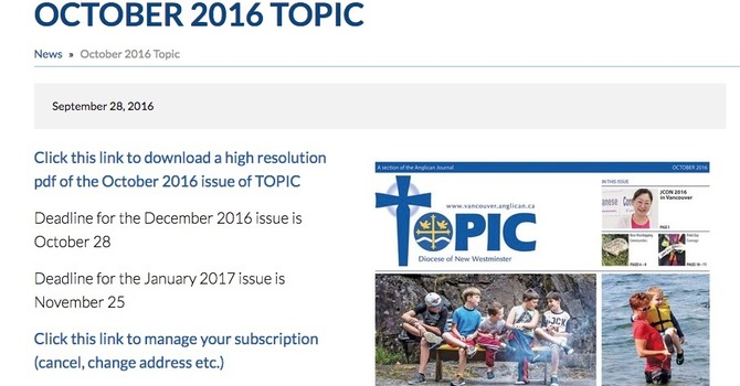 October Topic now available image