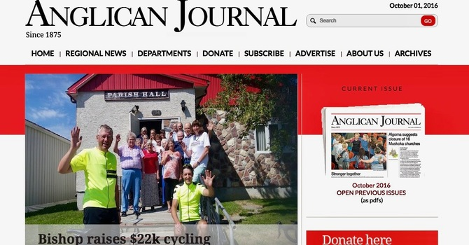 October Anglican Journal now available online image