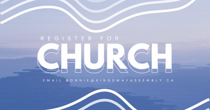 Registering for Church image