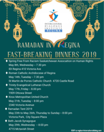 Ramada in Regina - Fast Breaking Dinners 2019