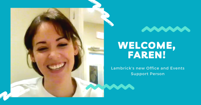 Welcome to our new staff team member, Faren! image