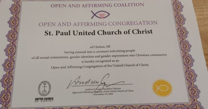 We are Open and Affirming church #1688! image