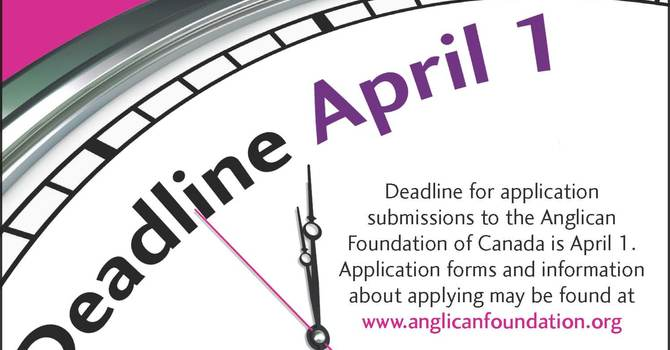Anglican Foundation Deadline