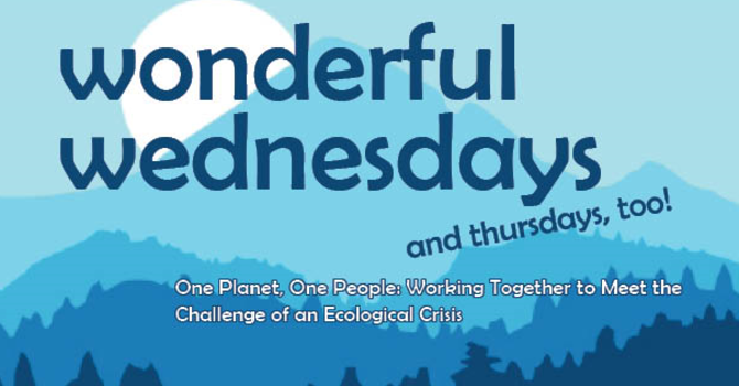 Wonderful Wednesdays Presenter Topics and Information image