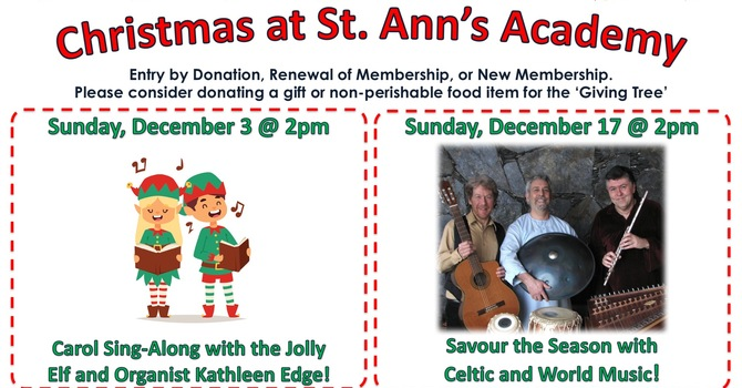 Celtic & World Music @ St. Ann's Academy Chapel. Dec. 17 image