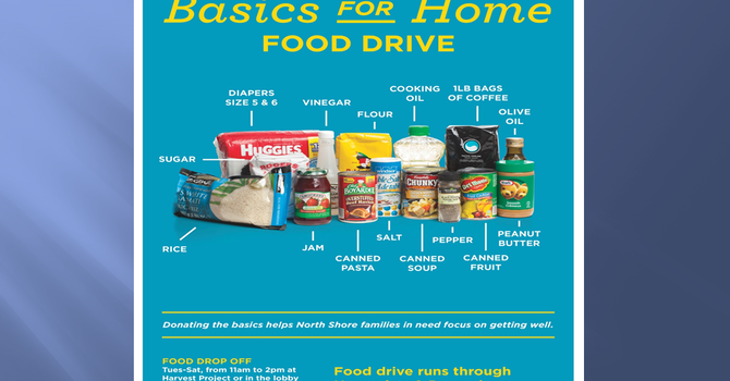 Harvest Project Donations - Food Basics Drive image