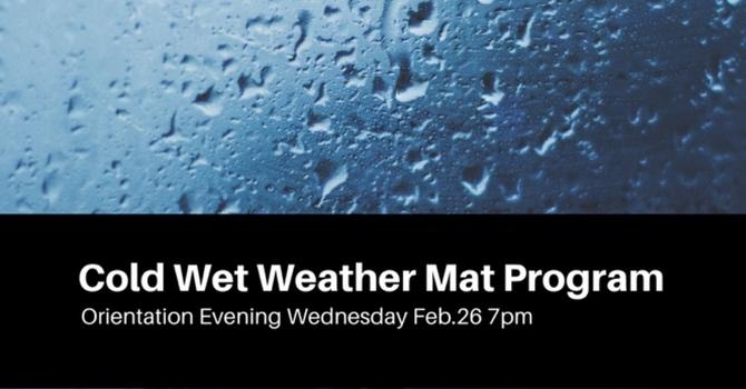 Cold Wet Weather Mat Program Orientation