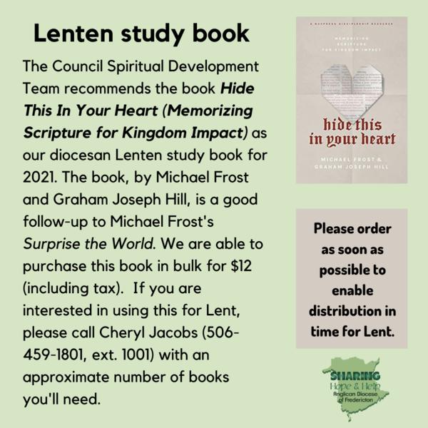 Lenten Study Book