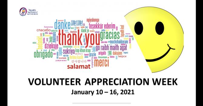 Virtual Volunteer Appreciation Events (Jan 15  and Jan 16, 2021)