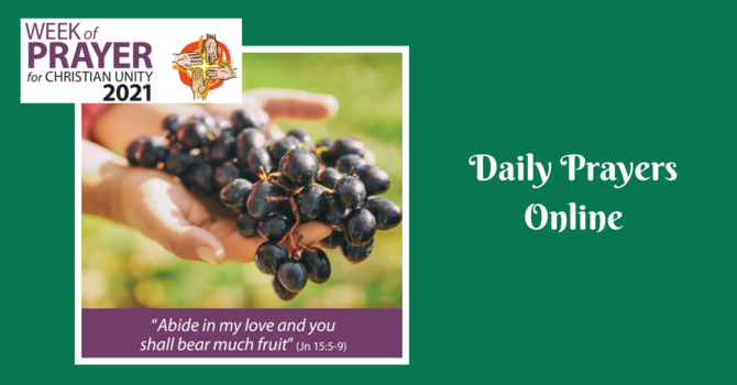 Daily Prayers for Wednesday, January 20, 2021 image