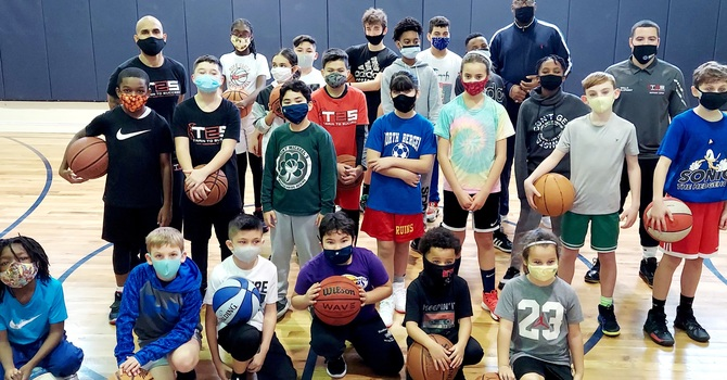 Youth Basketball  & Sharing God's Word image