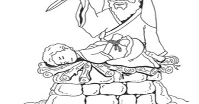 Abraham is Called to Sacrifice His Son, Isaac image