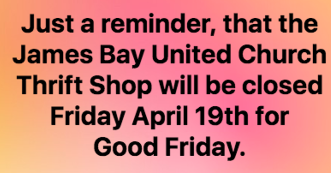 Thrift Shop Closed - Good Friday image