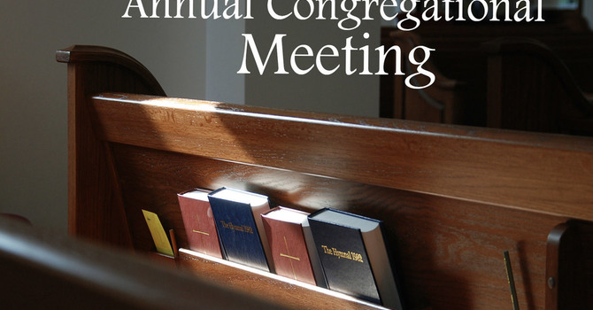 Annual Congregational Meeting: Sunday, February 14, 2021, 11:00am image