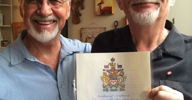 Alistair Peacock spends weekend as country's newest citizen! image