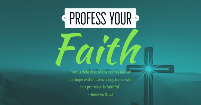 PROFESSION OF FAITH CLASS