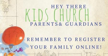 Online Kids Church registration now open