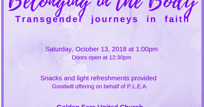 Belonging in the Body: Transgender Journeys in Faith