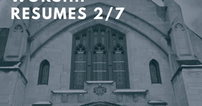Resuming In-Person Worship on 2/7 @10am image