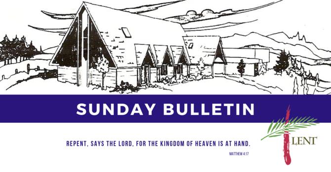 Bulletin - Sunday, March 24, 2019