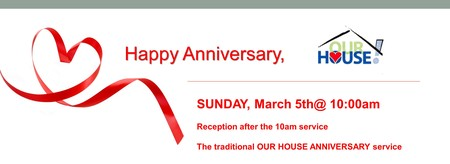 Our House Recovery - 40th Anniversary