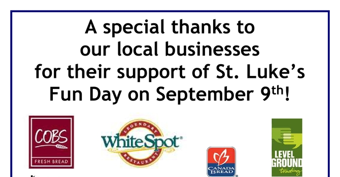 Thank You to Our Local Businesses image