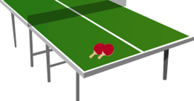 NO Table Tennis during the summer