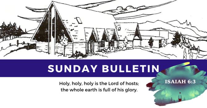 Bulletin - Sunday, June 16
