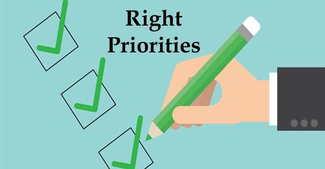 Right Priorities