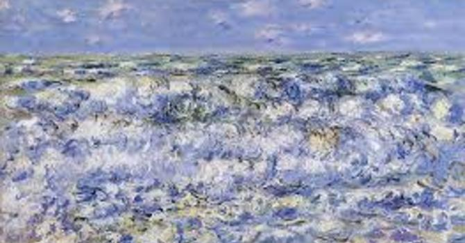 Art and Soul for Lent  Day 13 - Waves Breaking image