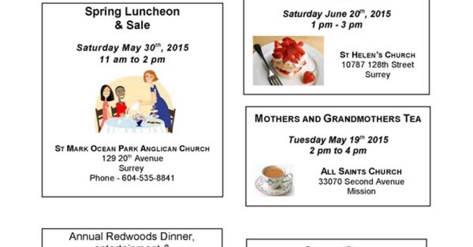 Anglican Church Women (ACW) Newsletter for May 2015 image
