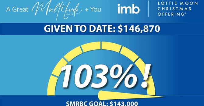 SMRBC Surpasses $143,000 Lottie Moon Christmas Offering Goal! image