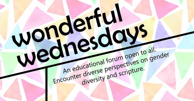 Wonderful Wednesdays - Lenten Series 2018 image