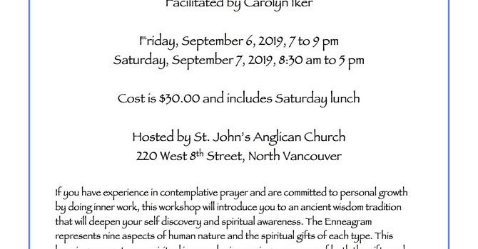 Enneagram Workshop with Carolyn Iker