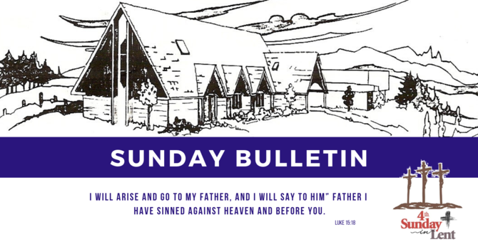 Bulletin - Sunday, March 31, 2019 image
