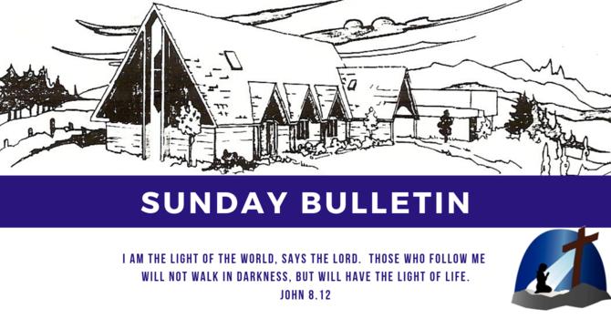 Bulletin - Sunday, February 10, 2019