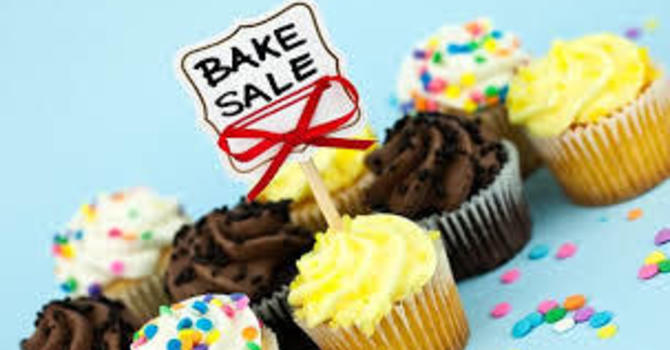 Bake Sale Table at Oyen Farmer's Market