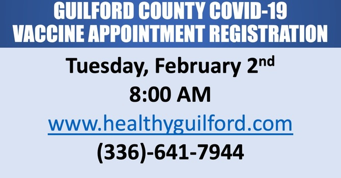COVID-19 Vaccine Appointments Available in Guilford County image