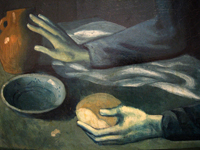 The Blind Man's Meal (detail), 1903 by Picasso, Pablo, 1881-1973